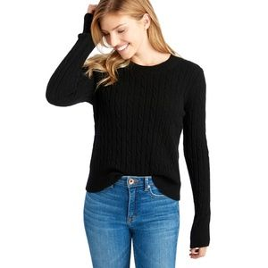 VINEYARD VINES black Coral Lane cashmere sweater